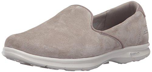 Skechers Performance Go de la mujer paso Untouched Walking zapatos Taupe Suede