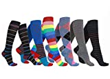 6 Pairs Women/'s Graduated Compression Trouser Socks-B 8-15mmHg, W: 6-10