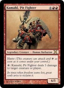 Kamahl, Pit Fighter (Magic the Gathering : 10th Edition #214 Rare)