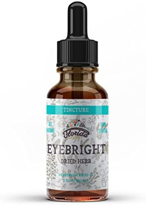 Eyebright Tincture, Organic Eyebright Extract Drops Euphrasia officinalis Herb