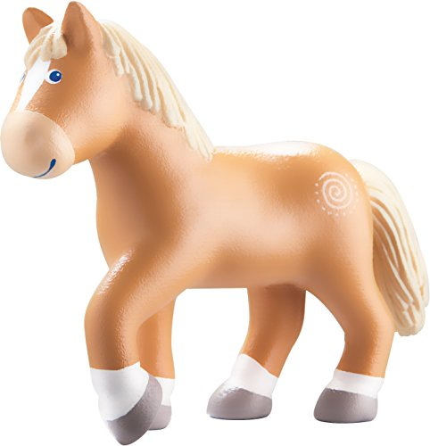 "HABA Little Friends Horse Leopold - 4.5"" Brown Steed Poseable Bendy Figure"