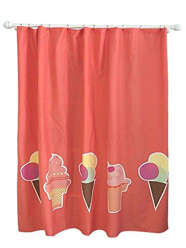 Pillowfort Ice Cream Shower Curtain Brick Red (Ice Cream Shower Curtain Brick Red Pillowfort)