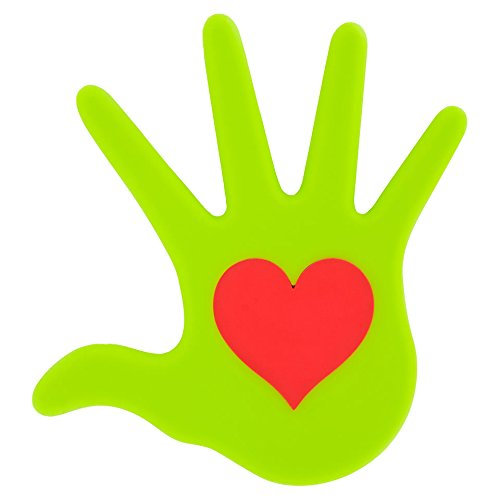 Pylones Heart in Hand Silicone Trivet Green