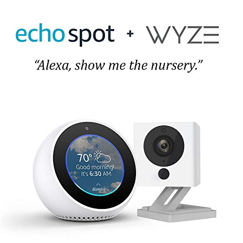 Package Cam (Echo Spot bundle with Wyze Cam 1080p HD Smart Camera - White)