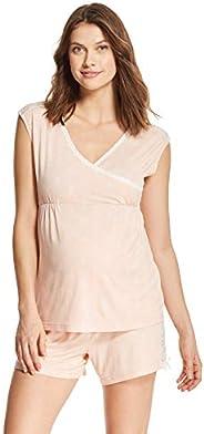 Lamaze Womens Short Sleeve Shirt and Lounge Pajama Shorts Set Pajama Set