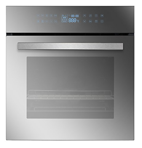 Empava EMPV-24WOC17-LTL 24″ 10 Cooking Functions W/Rotisserie Electric LED Digital Display Touch Control Built-in Convection Single Wall Oven