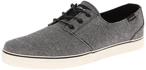 C1RCA Men's Crip-T Fashion Sneaker,Black Mini Herringbone,7.5 M - Leather Sneakers Circa