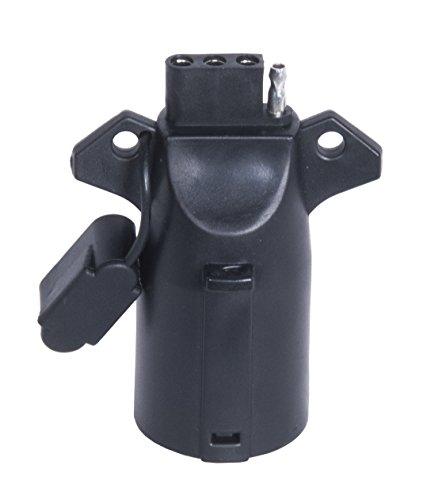 MaxxHaul Black 70085 7-Way RV Blade to 4-Wire Flat Adaptor ()