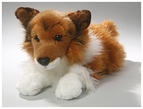 (Shetland Sheepdog (Collie) Brown-White, 12 inches (15.5 inches Total Lengh), 30cm/40cm, Plush Toy, Soft Toy, Stuffed Animal 3372001)