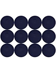 Set Of 12 Pyrex Blue Round Storage Lid Cover Fits 6 7 Cup Round Dishes 7 5 Diameter 7402 PC 12