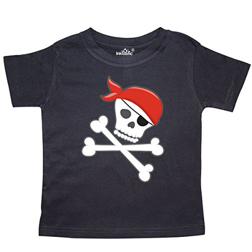 inktastic - Pirate Skull and Crossbones Toddler T-Shirt 3T Black 27525
