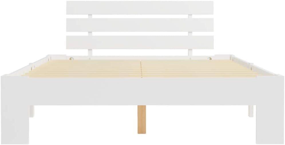 Festnight Cadre de Lit en Bois de Pin Massif Lit pour Adulte 160 x 200 cm Gris