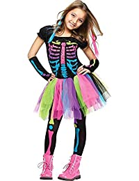 Funky Punky Bones Costume, Medium 8 - 10, Multicolor