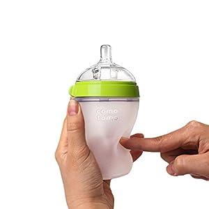 Comotomo Baby Bottle, Green, 5 Ounce, 2 Count