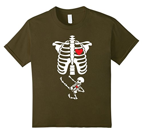 Infant Green Olive Costume (Kids Skeleton Pregnant Kungfu Baby Halloween Costumes for Adults 4 Olive)