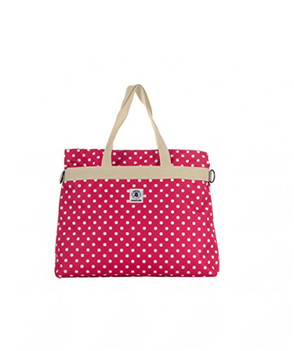 Invicta College Shopper Borsa a Mano da Donna Ragazza a Spalla Shopping Fashion Viaggio Rosa