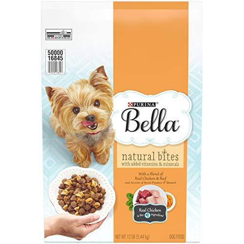 Purina Bella Natural Small Breed Dry Dog Food, Natural Bites With Real Chicken & Beef - 12 lb. Bag