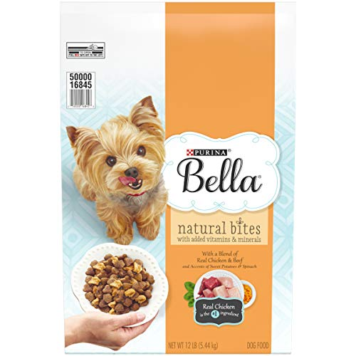Bowl Bella Bowl Dog (Purina Bella Natural Small Breed Dry Dog Food; Natural Bites With Real Chicken & Beef - 12 lb. Bag)