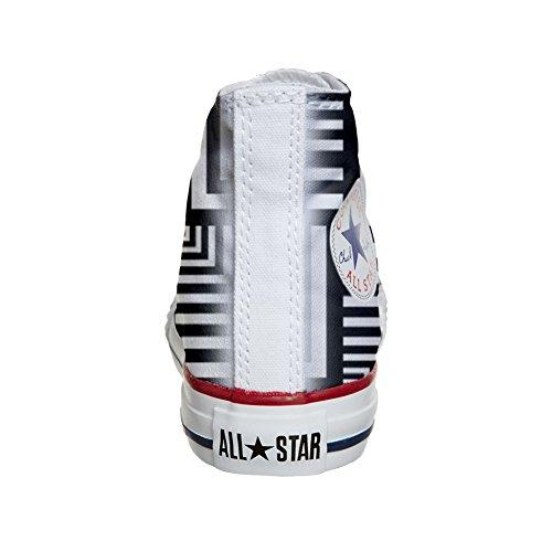 Converse All Star Hi chaussures coutume (produit artisanal) Geometric