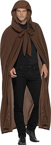 Hobbit Cloak Costumes (Smiffy's Men's Grave keepers Costume, Hooded Cloak, One Size, 28610)