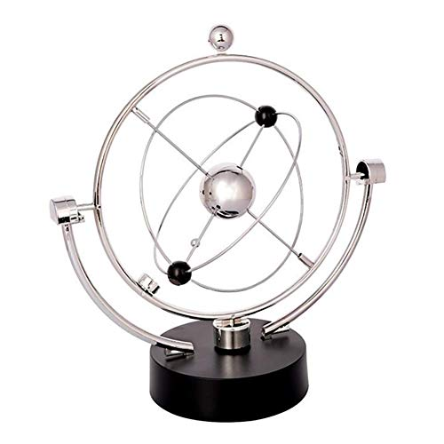 - Cotowin Electronic Perpetual Motion Toy Kinetic Art Asteroid Science Asteroid Gadget Desk Toy Gyroscope Plasma Ball for Home Decoration