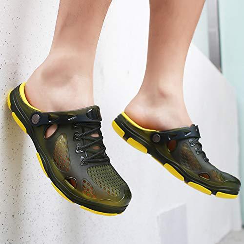 YEZIJIN Hot Sale! Summer Casual Men's Flats Breathable Antiskid Sandals Slippers Beach Hole Shoes Slipper Heels Platform Flats Shoes for Women Ladies Girl Indoor Outdoor Clearance 2019 Best by YEZIJIN_Women's Sandals (Image #5)