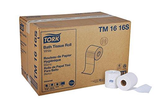 "Tork Universal TM1616S Bath Tissue Roll, 2-Ply, 4"" Width x 3"
