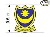 Portsmouth Fc United Kingdom Soccer Football Club FC 2 Stickers Car Bumper Window Sticker Decal Huge 9.5 inches
