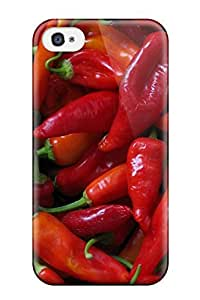High Grade DPatrick Flexible Tpu Case For Iphone 4/4s - Red Peppers