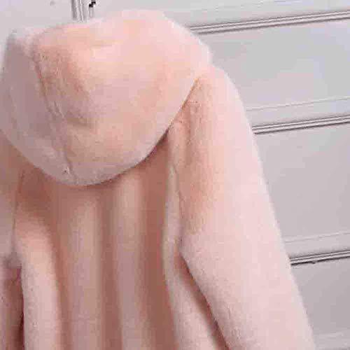 Parka S Cardigan Décontractée Femmes Zhrui Casquettes coloré Solides Chaud Outwear À Hiver Manteau Dames Taille Veste Épais Rose Capuche Survêtement O66HnIgq