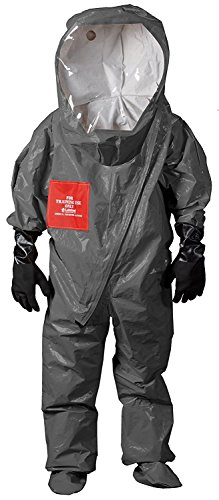 Lakeland Authentic Level A TES Interceptor, Encapsulated Training Suit, Warning - for training purposes only, Size Large for $<!--$108.72-->