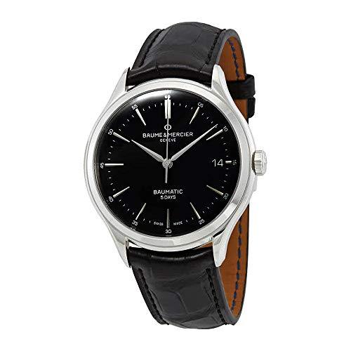 Baume et Mercier Clifton Baumatic Automatic Black Dial Men's Watch 10399