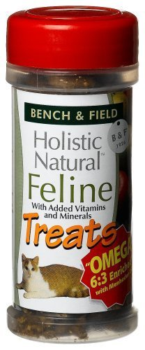 Bench & Field Holistic Natural Feline Treats, 3-Ounce Jars (Pack of 6) by Bench & Field