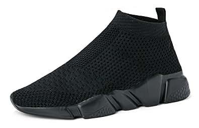 LANDEER Men's Lightweight Casual Walking Shoes,All Black,8 D(M) US