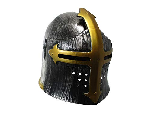 Gladiator Helm (Nicky Bigs Novelties Child Medieval Templar Knight Helmet Costume Headwear, Silver, One Size)