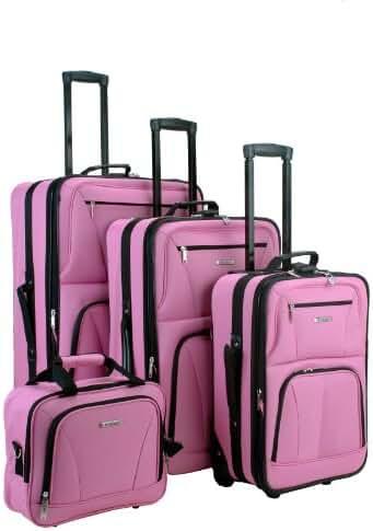 Rockland Luggage Skate Wheels 4 Piece Luggage Set