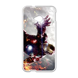 HTC One M7 White Cell Phone Case Iron Man TXBY4170