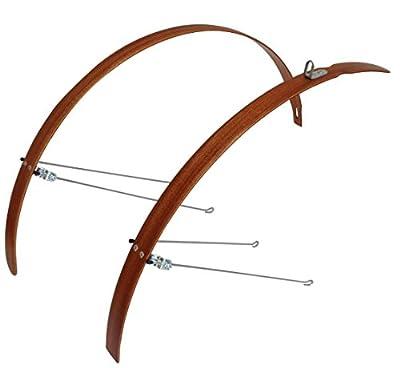 "Urbinati bike Fender/Mudguard, Wooden Mudguard Set L35 Mahogany -- 26""/28"""