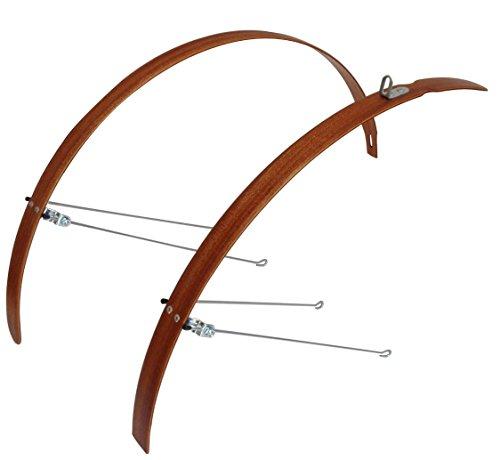 Urbinati bike Fender/Mudguard, Wooden Mudguard Set L35 Mahogany -- - Fender Wooden