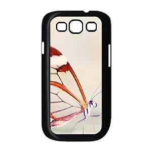 [Butterfly Series] Samsung Galaxy S3 Case Cute Butterfly Close Up, Samsung Galaxy S3 Cases for Mens Evekiss - Black