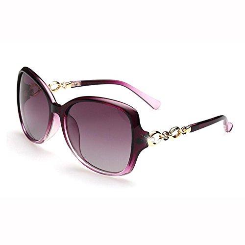 Personalidad Retro Circón Hembra Color Luz J Gafas WX UV Gafas Polarizada De Z Brillante Fortalecimiento xin Cara Anti Redonda Sol q0wng8Px