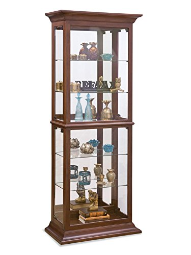Philip Reinisch Fairfield II Curio Cabinet, Cherry Finish