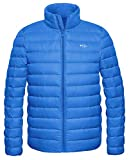 Wantdo Men's Winter Down Coat Lightweight Soft Warm Down Jacket Sapphire Blue Large