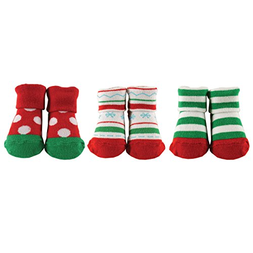 3-Piece Little Shoe Socks Gift Set, Christmas Dots