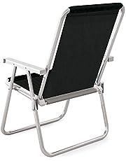 Cadeira Alta Conforto Alumínio Sannet Preto Mor