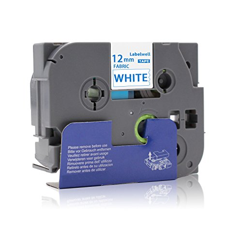 Labelwell 12mm x 3m Compatible with Brother Tz FA3 TZeFA3 TZe-FA3 Iron On Fabric Blue on White Tape Label for Brother P-Touch PT H101C H110 H105 2030VP P750W E100 H101GB Label Maker