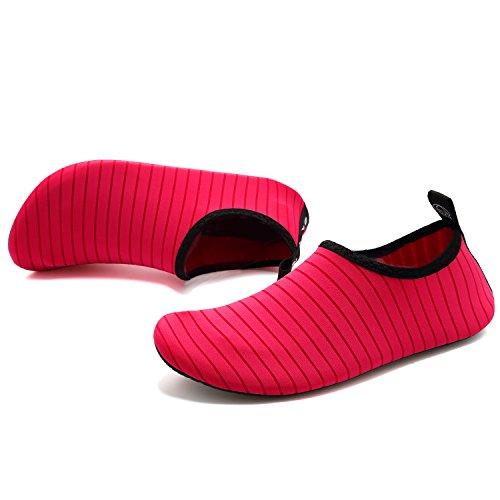 on Uomo Per Quick Barefoot Da Acquatici Scarpe Yoga Slip Slip dry Sport Donna Vifuur Aqua Bambino Rosso qxOFP7q