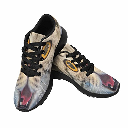 InterestPrint Women's Jogging Running Sneaker Lightweight Go Easy Walking Comfort Sports Running Shoes 6 B(M) US Funny Cat With Blurred (Blurred Cats)