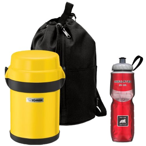 Zojirushi Sports Bottle: Zojirushi SL-JAE14YF Mr Bento Stainless Lunch Jar In Lemon