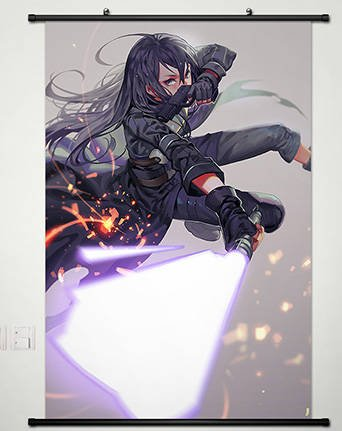 Anime Sword Art Online 2 Home Decor Wall Scroll Poster Fabri